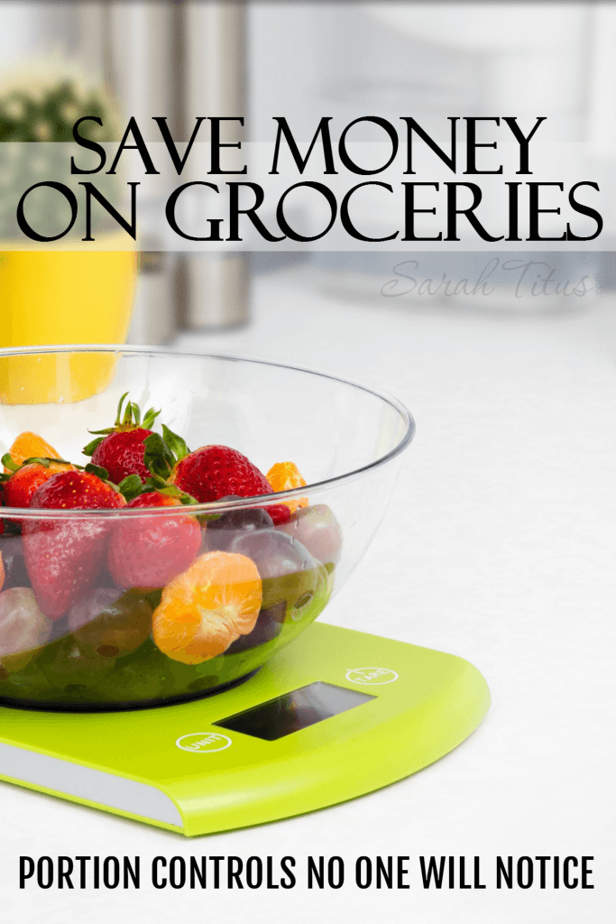 Did you know there are very simple adjustments you can make to the way you prepare your food that can save your grocery bill quite a bit? Check out one of those ideas here: portion controls no one will notice!