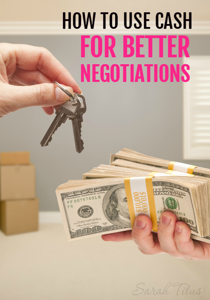 I save a boatload of money by always paying cash for what I want and you can too! Here's how to use cash for better negotiations!