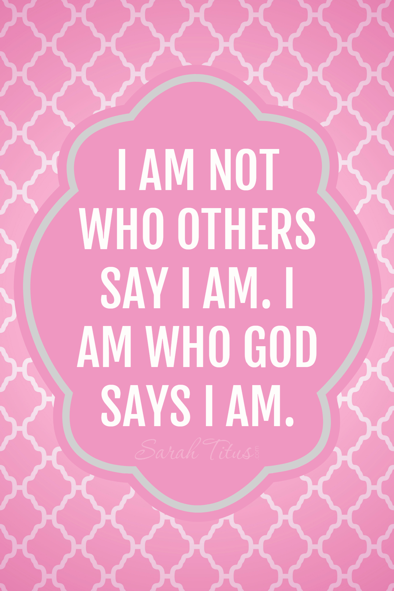 I Am Not Who Others Say I Am