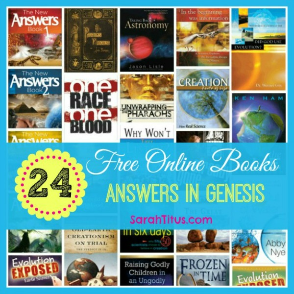 24 Free Answers In Genesis Ken Ham Free Online Books