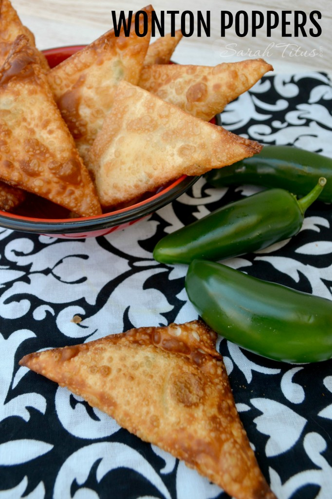These delicious wonton popper appetizers are a family favorite. They are super simple to make and a huge crowd-pleaser!