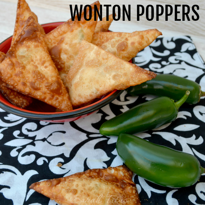 These delicious wonton poppers are a family favorite. They are super simple to make and a huge crowd-pleaser!