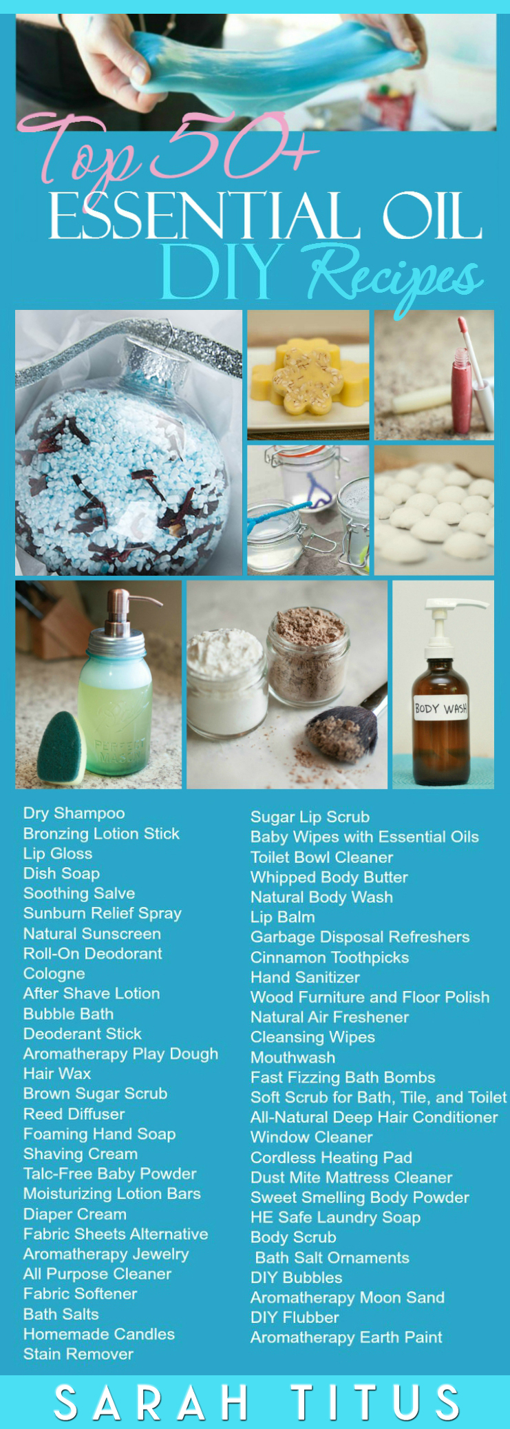 Save money by making your own really cool items from things you have around the house! Top 50 Essential Oils DIY Recipes. #diyrecipes #essentialoils #essentialoildiy #eodiy #eodiyrecipes