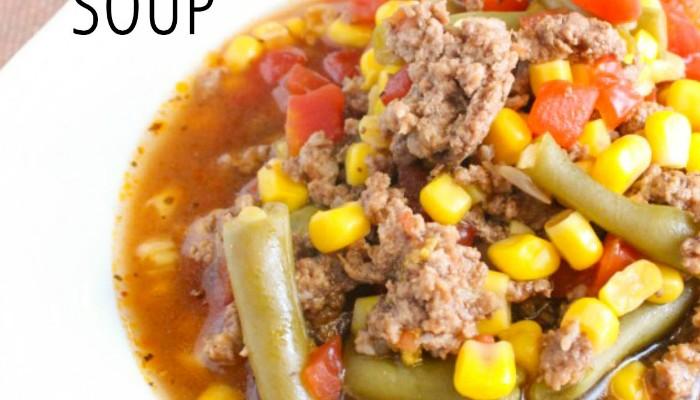 Quick & Easy Hamburger Veggie Soup