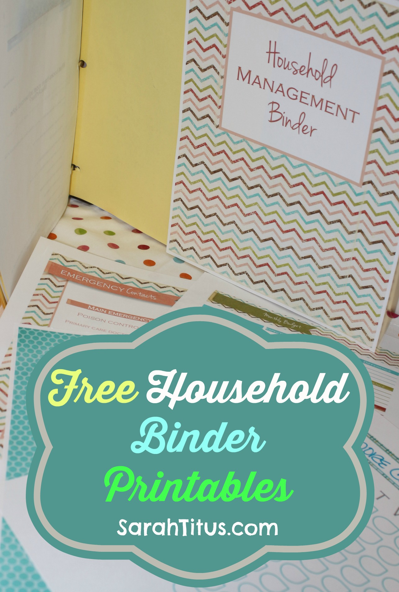 Free Printables: Household Binder