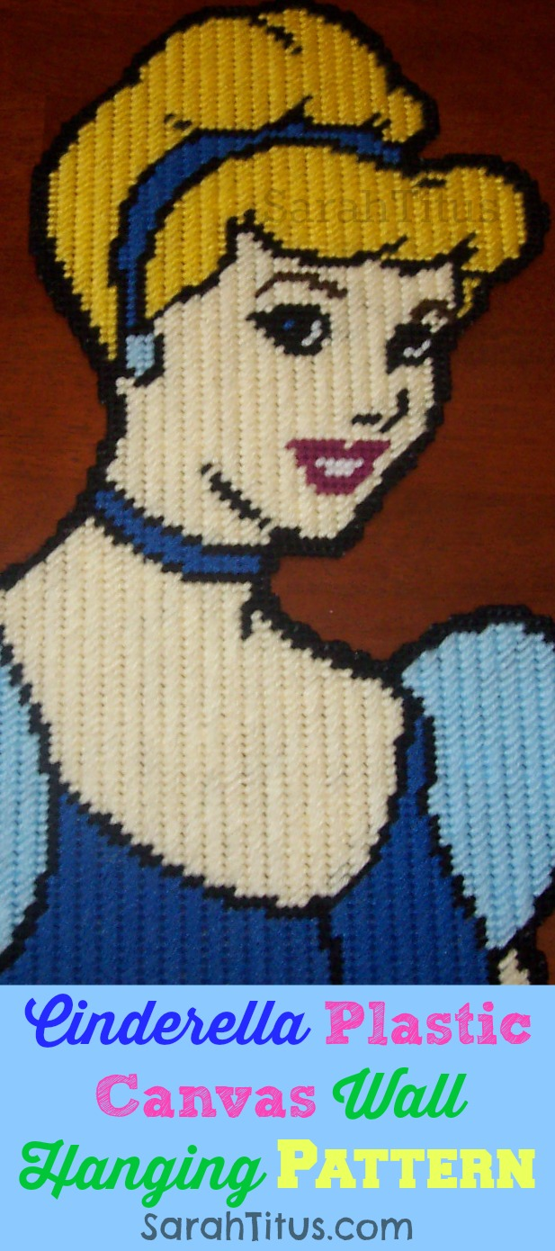 Disney Princess Cinderella Plastic Canvas Pattern Wall