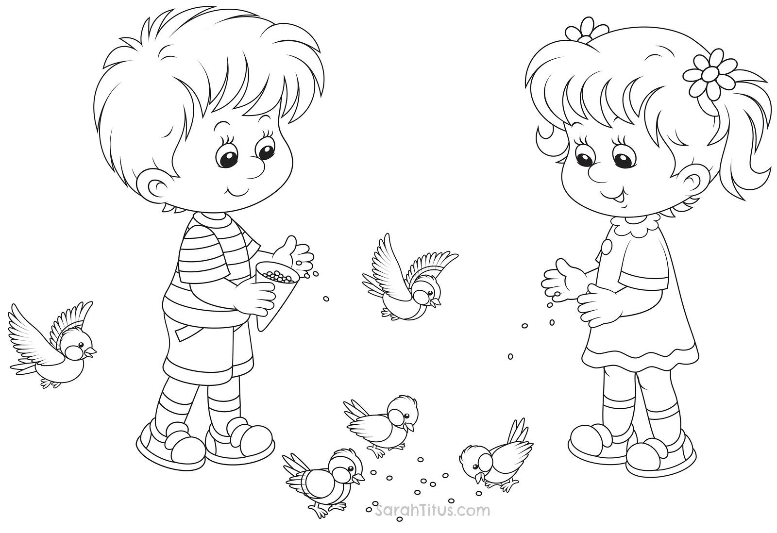 Раскраска мальчик для детей