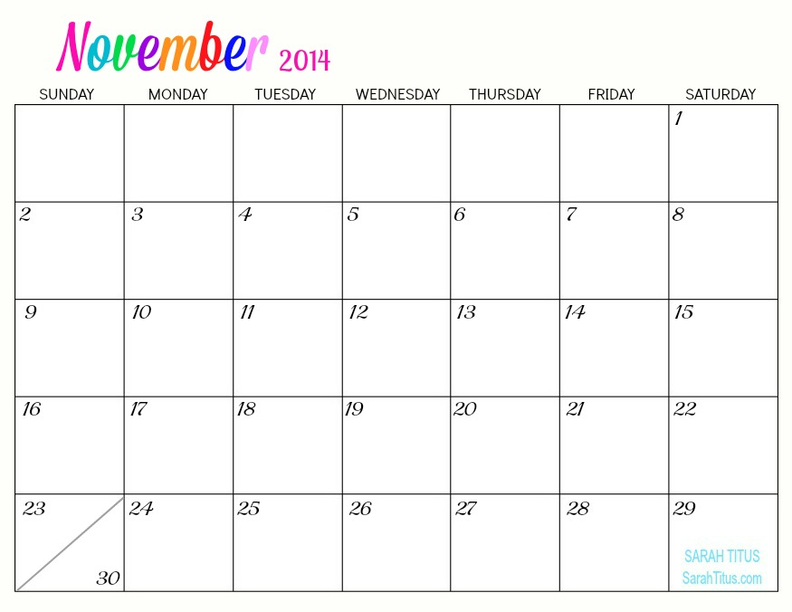 If you'd like free printable 2014 monthly calendars that feature a ...