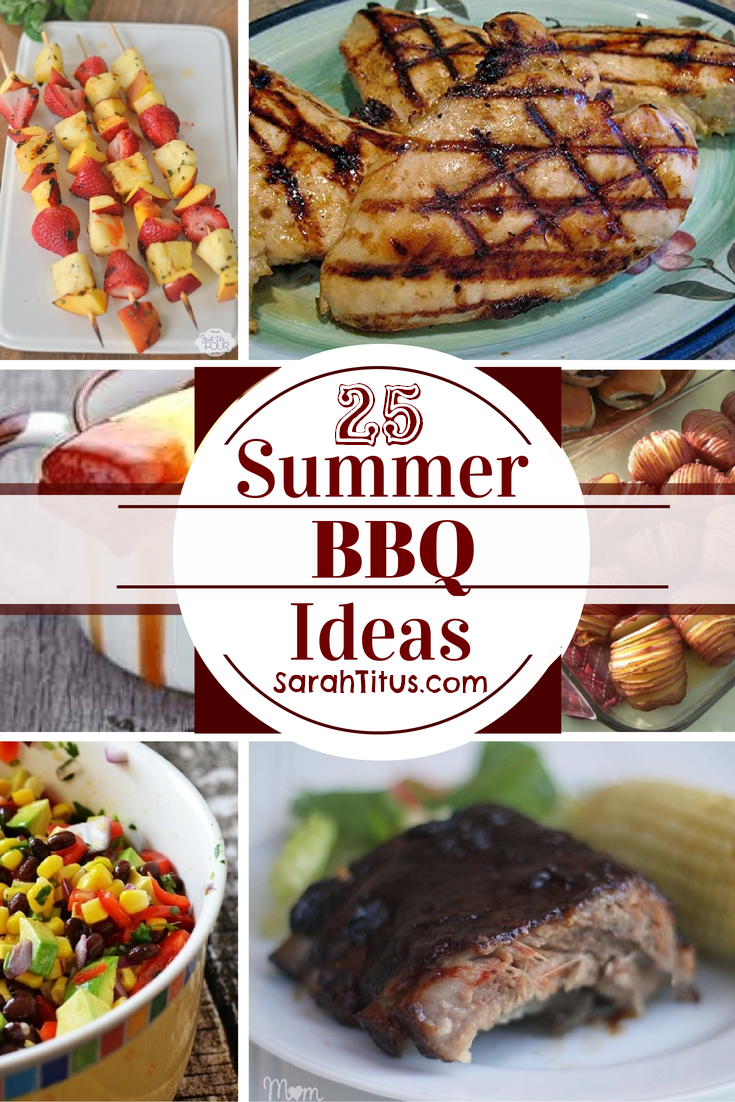 25 Summer BBQ Ideas #bbqrecipes