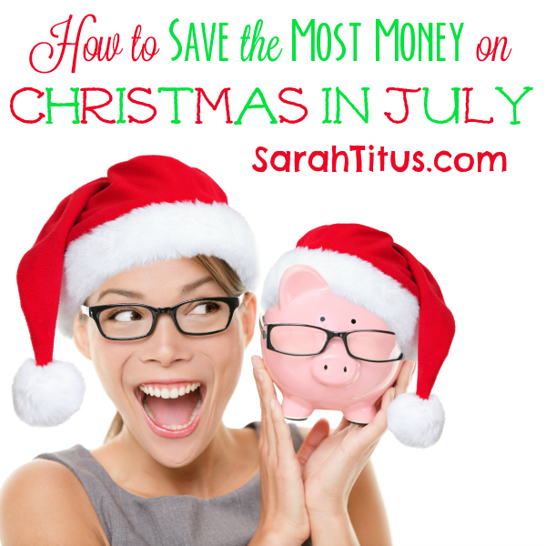 How to Save Money on Christmas in July