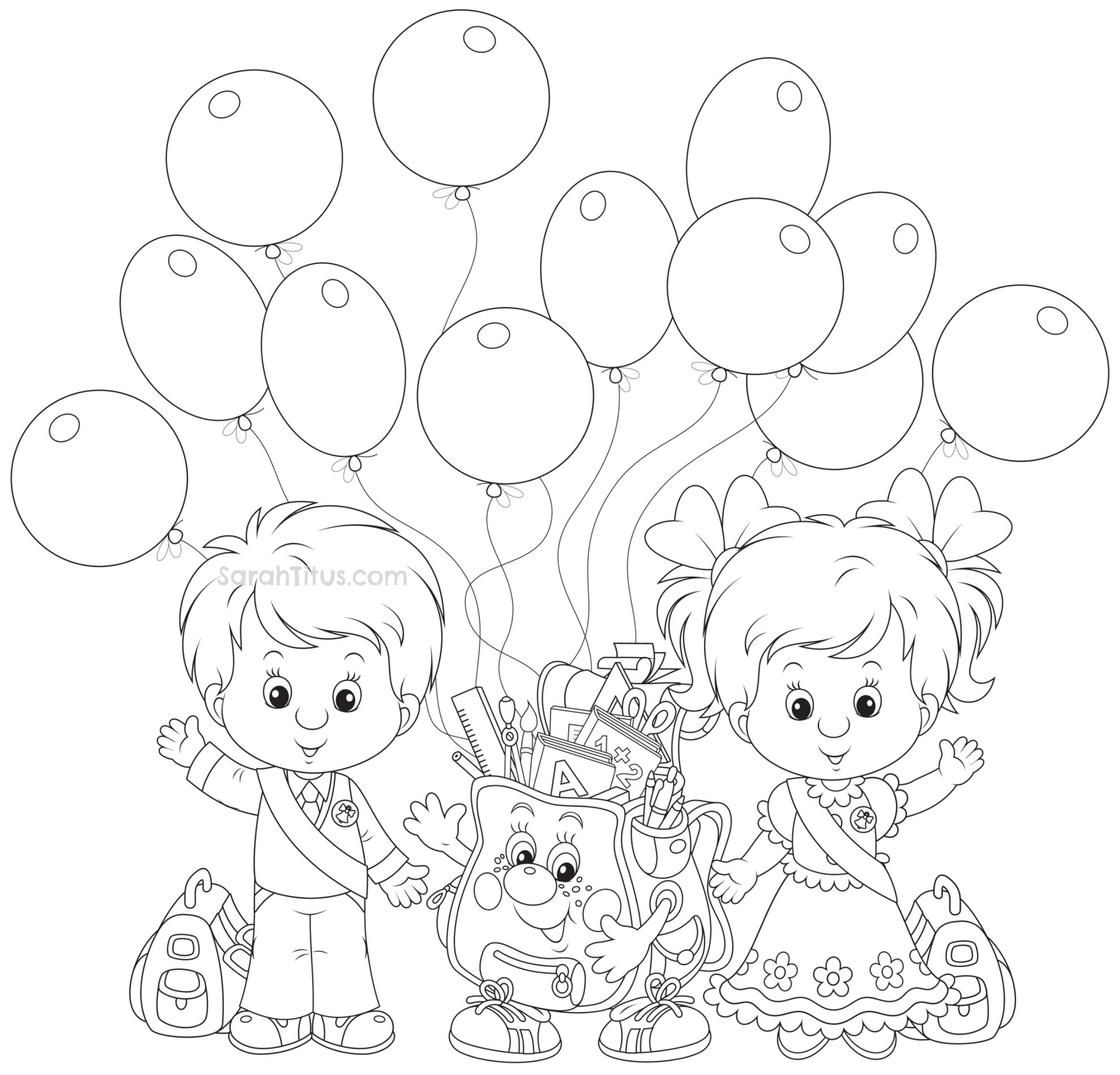 kindergarten coloring pages school - photo#24