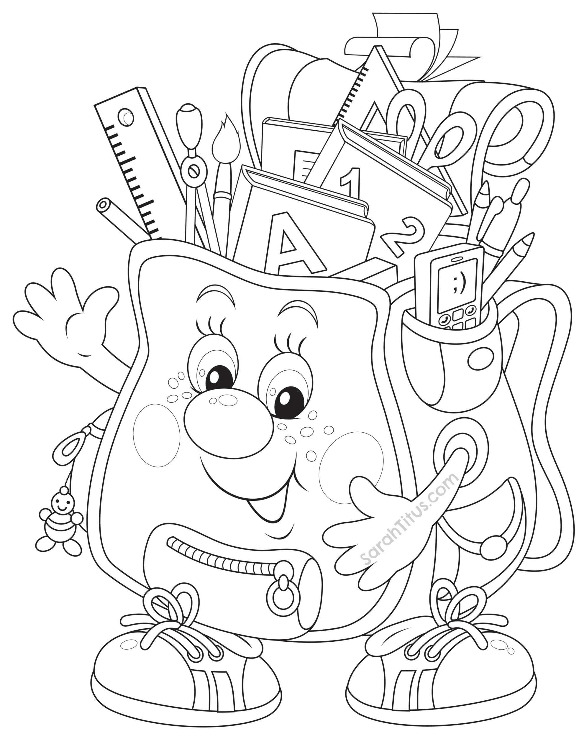 back to school coloring pages sarahtituscom - School Coloring Sheets