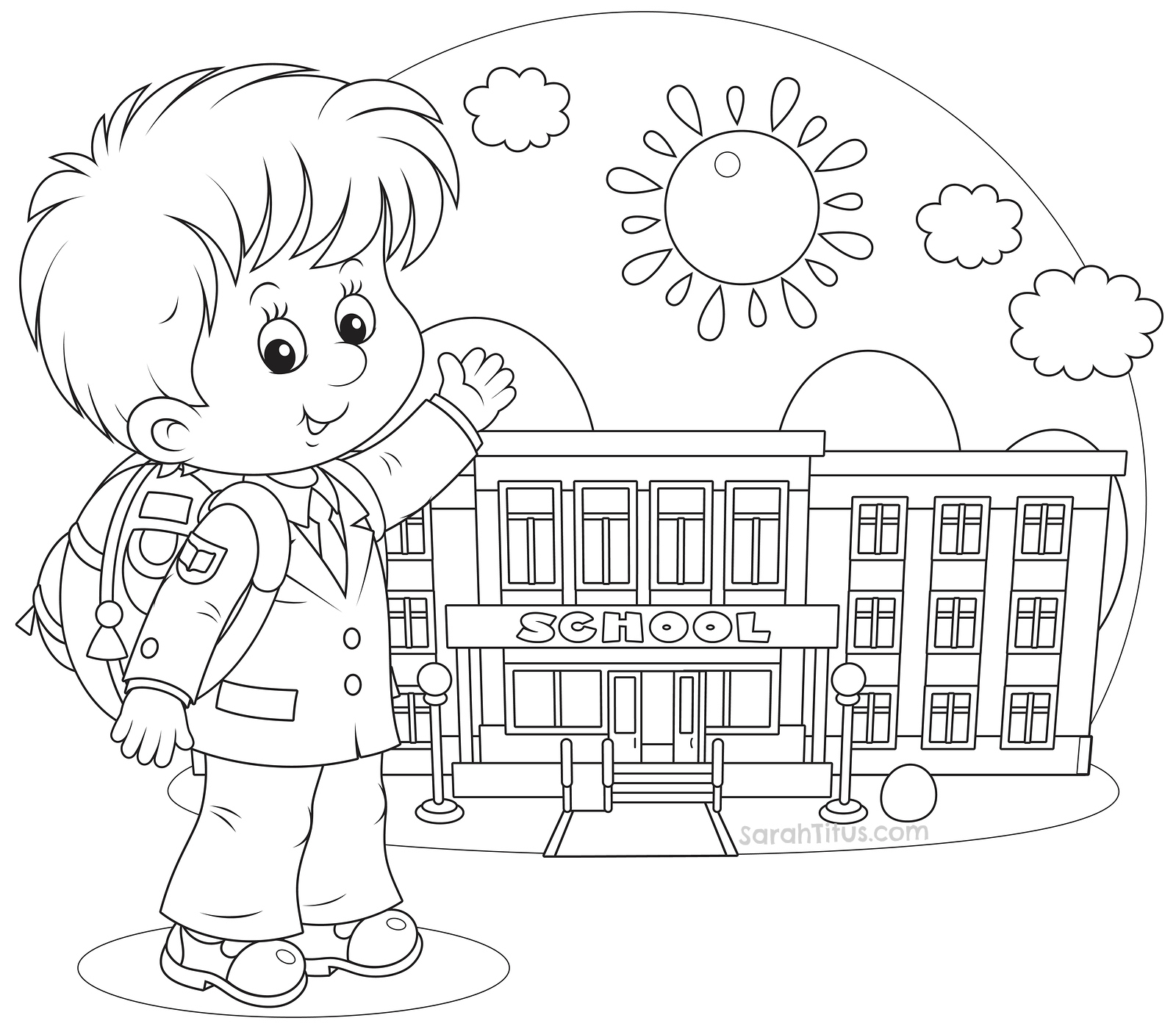 school stuff coloring pages - photo#34