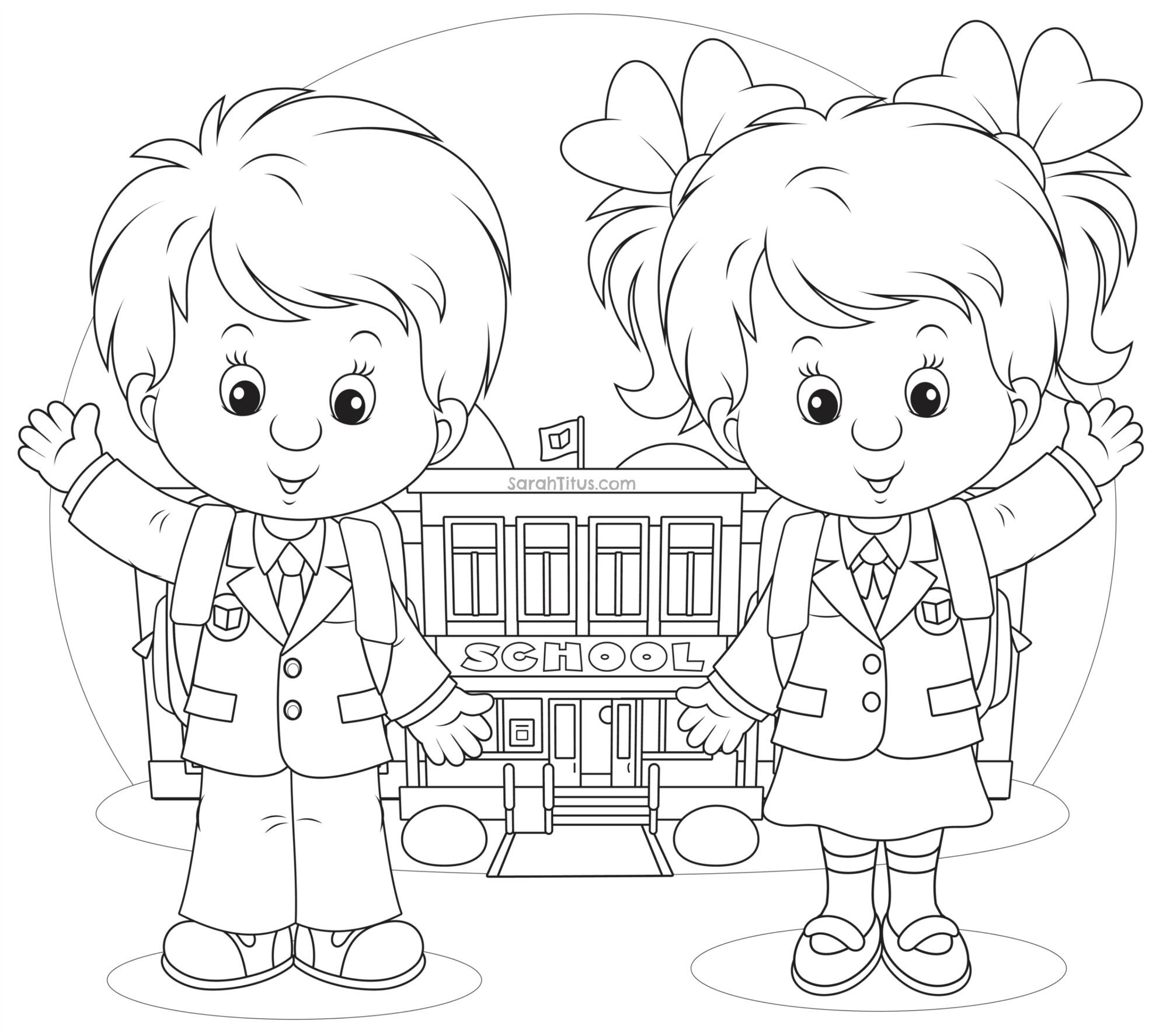school images coloring pages - photo#20