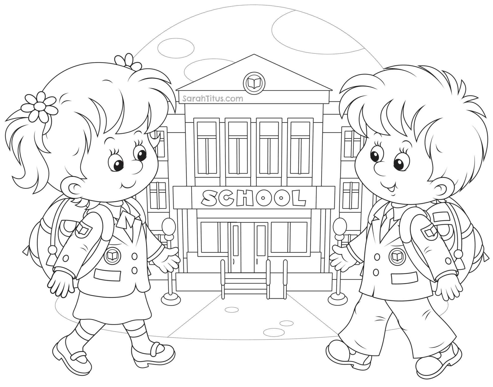 Back to school coloring pages sarah titus for Back to school coloring pages printable