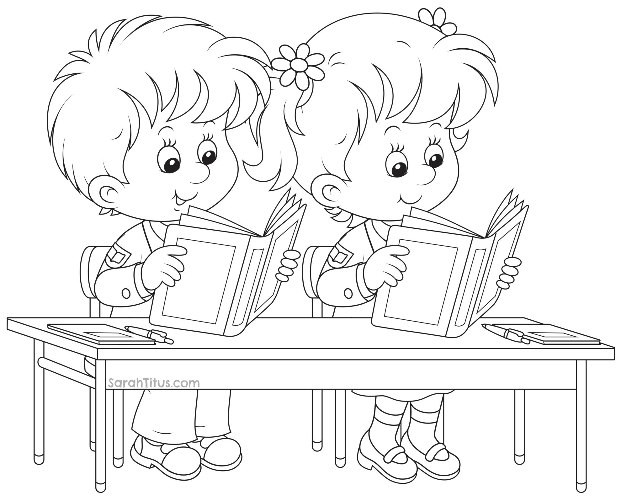 Back to school coloring pages sarah titus Coloring book for kinder
