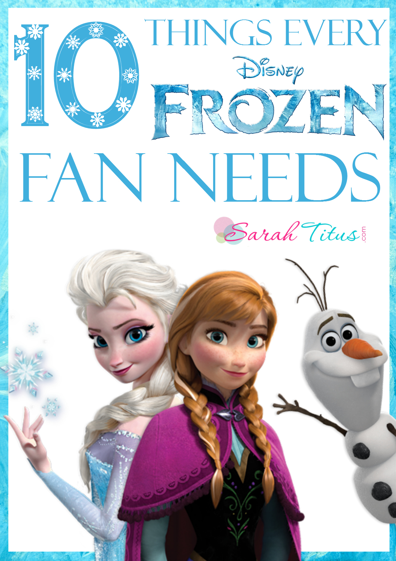 10 Things Every Frozen Fan Needs {Gift Guide}
