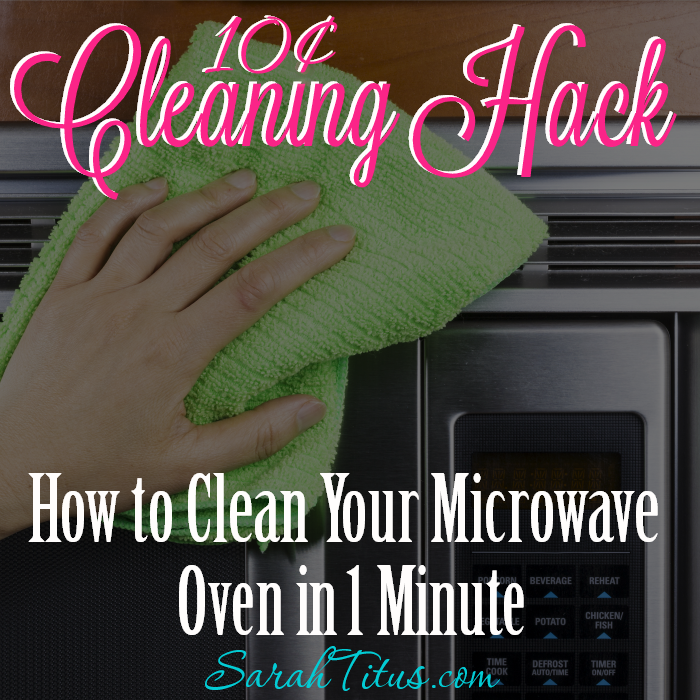 Cleaning Hack: How to Clean a Microwave Oven in 1 Minute for 10¢
