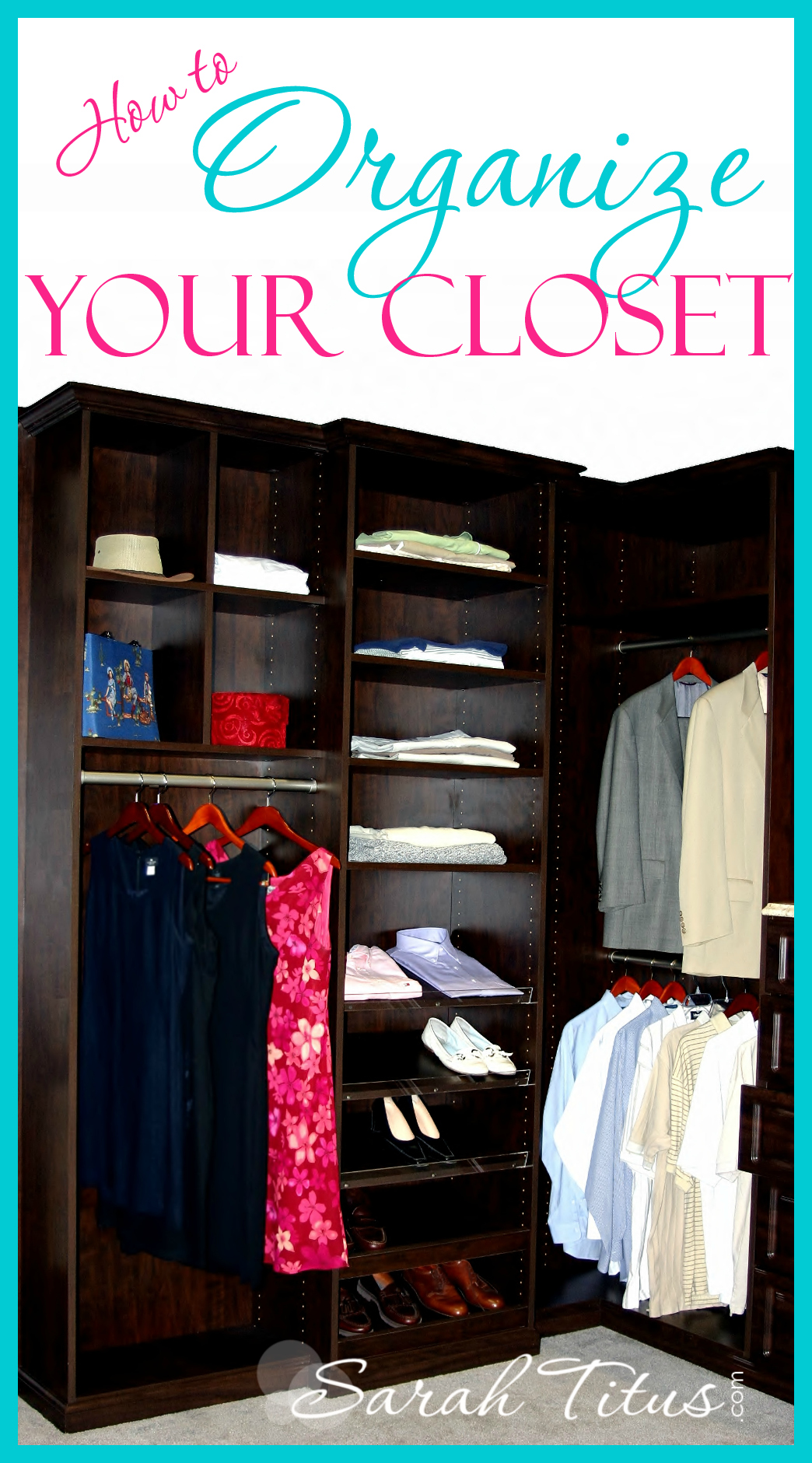 Step by step guide to get your closet organized fast. How to organize your closet is also budget friendly!