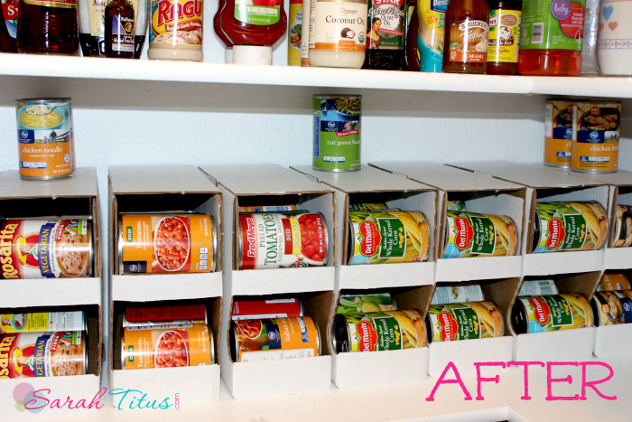 Organize Canned Goods