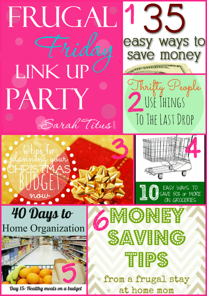 Frugal Friday Link Up Party