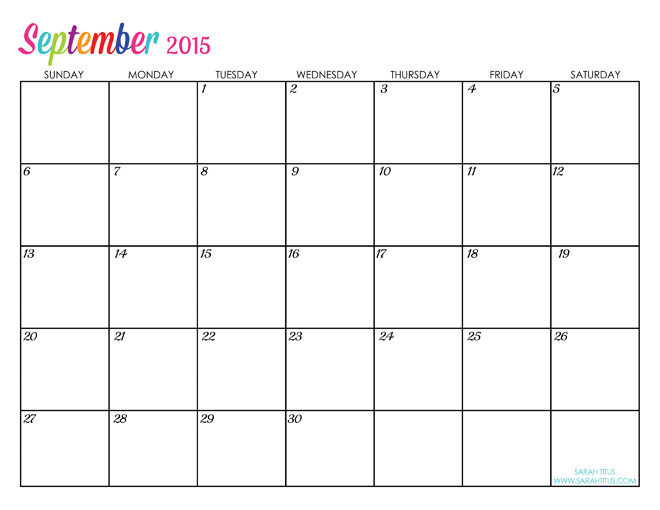 September 2015 Calendar Month | Printable Calendar Pdf