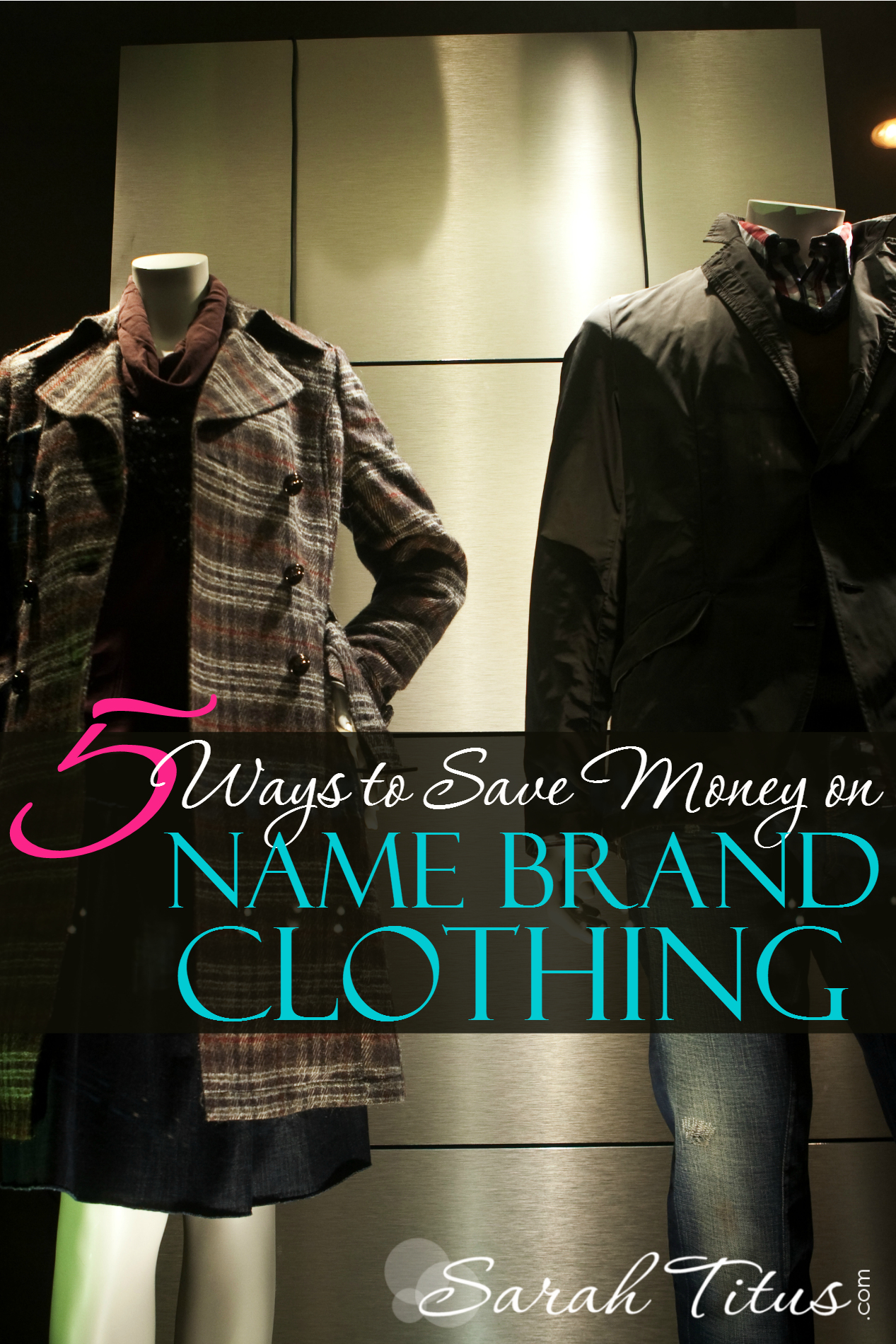 I'm a quality girl, so what I buy is usually brand name, but I don't want to spend a fortune on the finer things in life either. Fortunately, you don't have to! Here are 5 ways to save money on brand name clothing.