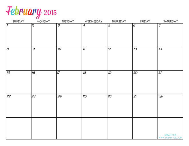 ... are all the calendars for 2015 of the diy coloring sheets 2nd calendar