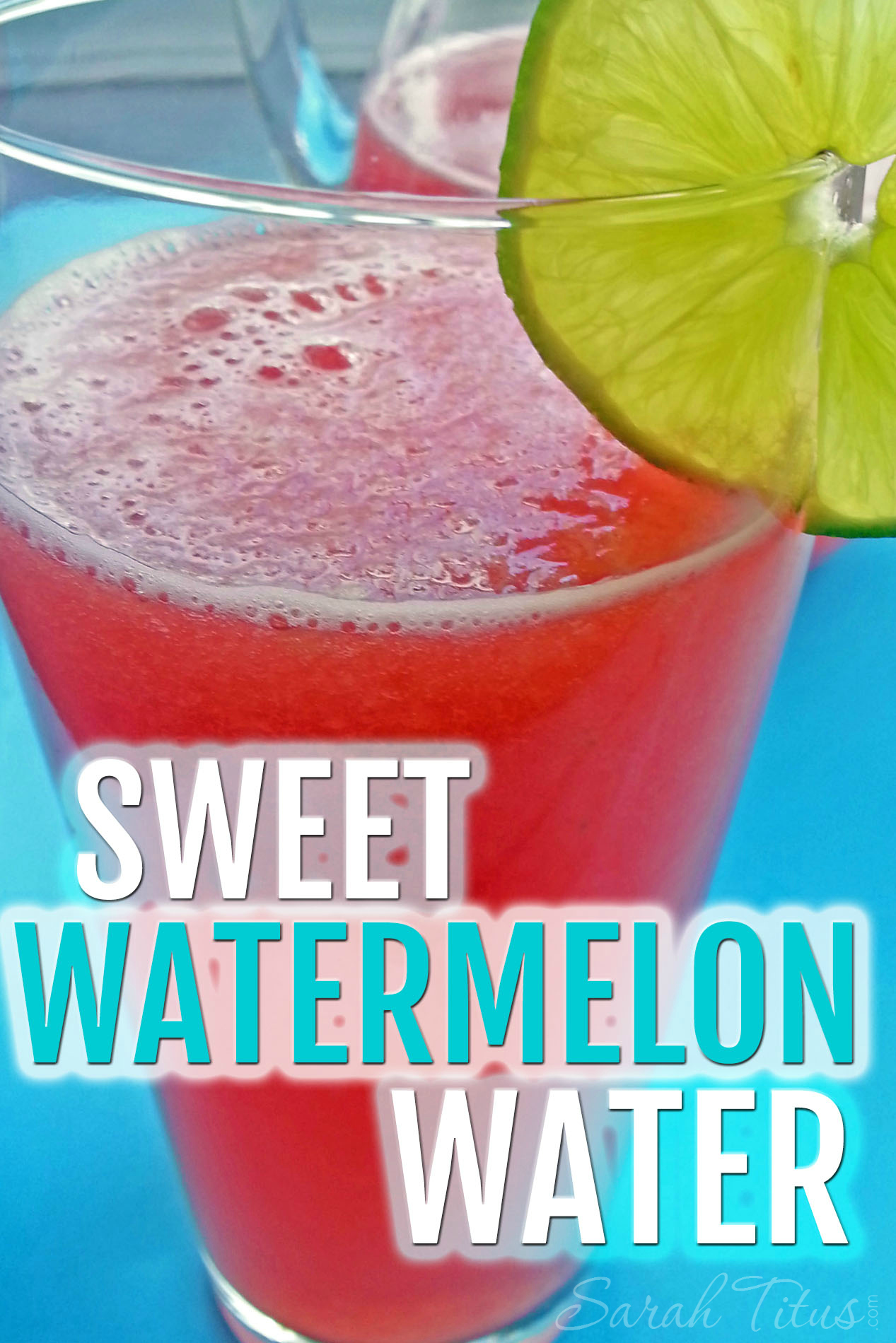 This watermelon water is my kids favorite! So tasty. Add some watermelon melon balls or freeze watermelon juice to give it more of a pop at your next party!