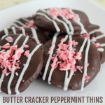 Some of my favorite treats give you a blast of salt and sweet at the same time...like these Butter Cracker Peppermint Thins. They are super simple to make and make the perfect holiday dessert or treat to take to your party!