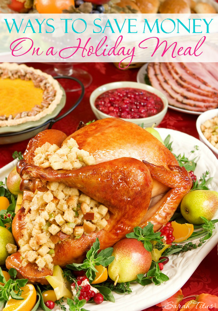 Holiday feasts are something that most of us look forward to every year, but it can also cost a bit of money if you will be hosting extra guests. Here are some ways to save money on a holiday meal that will help your budget last longer.