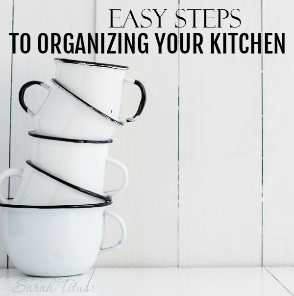 Does the thought of organizing your kitchen overwhelm you? If so, here's a step by step, detailed article showing you exactly how to tackle it once and for all!