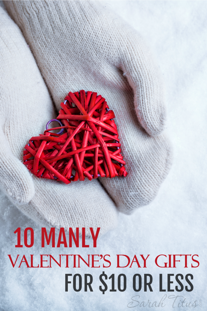 Picking out the right gift for a guy can be really hard....luckily this manly Valentine's Day gifts for $10 or less gift guide will not only keep you on budget, but it's perfect for the man that doesn't like all those feminine presents!