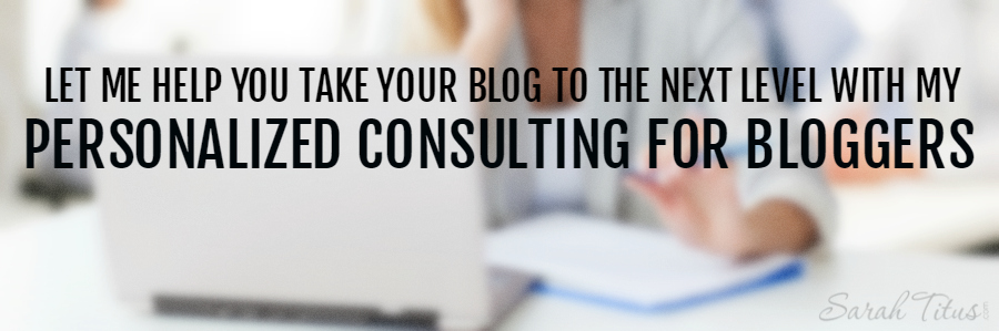 Personalized Consulting / Coaching for Bloggers
