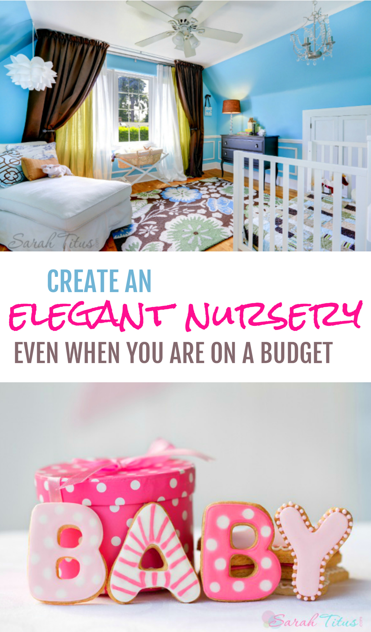 It is true that babies need a lot before they are born, but, with a little finesse, you can create an elegant nursery even when you are on a budget. Here are some tips to do just that.