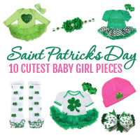 Dress your baby girl in the cutest accessories this year for Saint Patrick's Day.