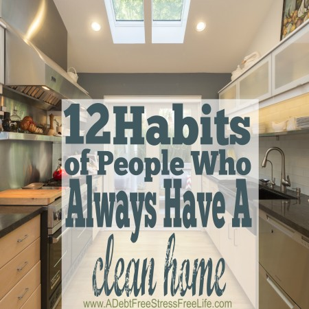 Oh, #4 and #7 are hard! Probably why my home isn't always spotless. LOL. Do you do these 12 things?
