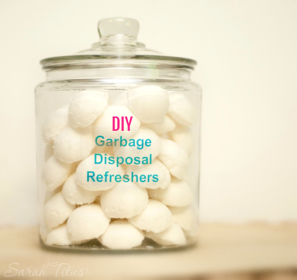 If your garbage disposal smells less than pleasant, make your own garbage disposal refreshers!