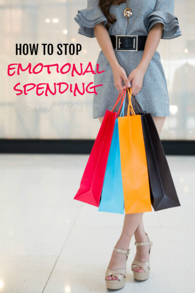 Do you notice that you spend more money when you are sad? If this is hurting your budget, click here to find out how to stop emotional spending.