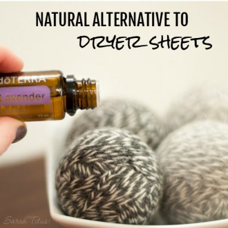 Dryer sheets can become really expensive over time and this natural alternative to dryer sheets is super simple to make and will last for a long time, thus saving you money over the long haul.