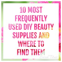 When I first started making my own beauty products, I felt like it was too expensive for me to start. Every recipe needed something different. Would it REALLY be cheaper? The answer is YES! Absolutely. Really, it only comes down to these 10 supplies. Here's a list of the 10 most frequently used DIY beauty supplies and where to find them, along with 55 recipes!