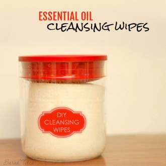 Did you know that you can make your OWN essential oil cleansing wipes? You totally can and it's super simple too! Check out the full tutorial!!