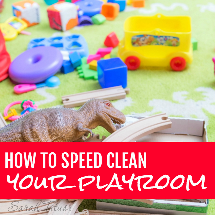Having a playroom is great...having a messy playroom that looks like a tornado hit it is not great. Here's how to speed clean your playroom in 15 minutes or less!