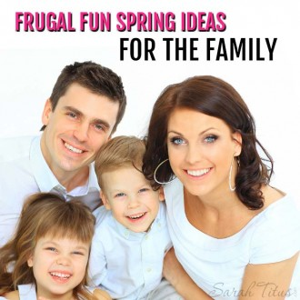 Spring is here and we're all itching to get outside, but you don't want to break the bank. No problem. These frugal fun Spring ideas for the family are perfect for you!
