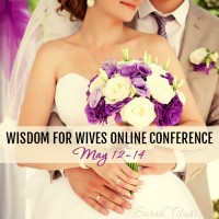 You could easily spend $300 or more to attend a marriage conference. This Wisdom for Wives Online Conference is only $30! Click to find out more information, but hurry, this fantastic pricing is only good until May 5.