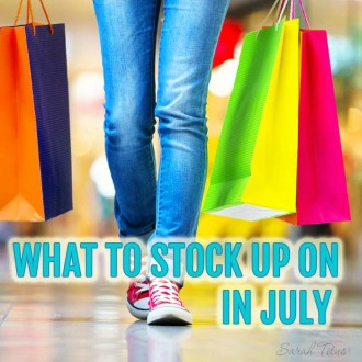 You could be leaving thousands of dollars on the table by not knowing what to stock up on each month. Quick list of what to stock up on in July and what you should be on the lookout for so you don't miss out on those deals!