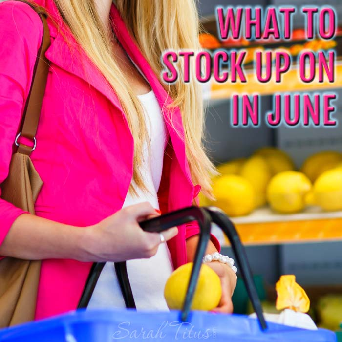 You could be leaving thousands of dollars on the table by not knowing what to stock up on each month. Quick list of what to stock up on in June and what you should be on the lookout for so you don't miss out on those deals!