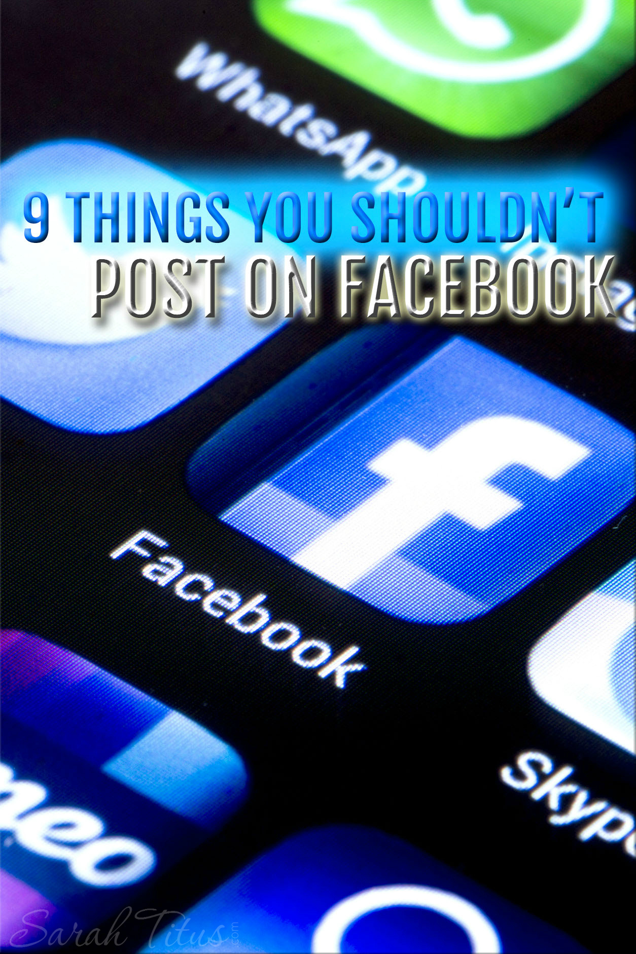 I bet you've posted at least one of these 9 things you shouldn't post on Facebook. Find out what they are and why it's so bad to say them!