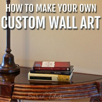 You don't need to spend hundreds of dollars on a fancy oil painting; you can do it yourself! Learn how to make your own custom wall art right from home!