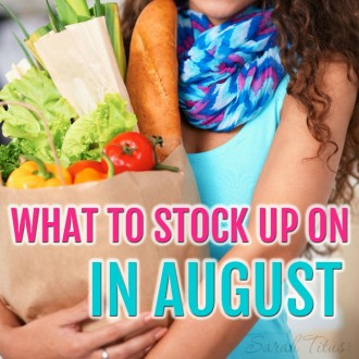 You could be leaving thousands of dollars on the table by not knowing what to stock up on each month. Quick list of what to stock up on in August and what you should be on the lookout for so you don't miss out on those deals!